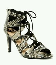 358a823620f NIB  79 FERGALICIOUS HEARTHROB SNAKESKIN LACE-UP SANDALS 9