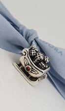 Authentic Pandora Santa's Christmas Sleigh Charm Bead with Garnet Holly 790562GA