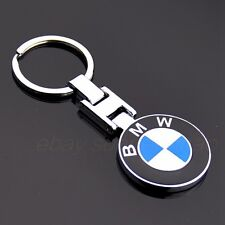 Metal Double Side Car Logo Keyring Key Chains Pendant Holder with Box for BMW