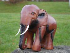 Rústico Efecto Madera Resina Elefante Adorno de Jardín Grande Africano Escultura