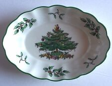 SPODE Christmas Tree Candy Dish With Fluted edge