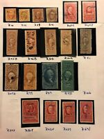1862-1954 US stamps revenue collection used Accumulation Lot CV $1638 H