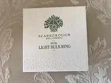 Crabtree & Evelyn Metal Light Bulb Fragrance Diffuser Ring - New in Box