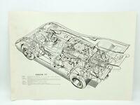 Porsche 944 Cutaway Poster24in x 36in