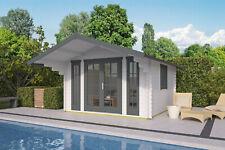 44 mm Gartenhaus 380x380 cm Blockhaus Holzhaus Gerätehaus Holz Holzhütte Datsche