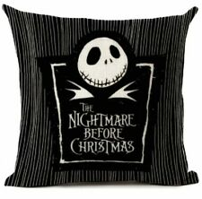 "18""x18"" Nightmare Before Christmas Throw Pillow Cushion Cover Case Skellington"