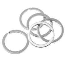 Ring 28mm for Home Car Keys 100Pieces Flat Key Rings Metal Split Keychain