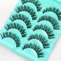 5 Paar Künstliche Falsche Wimpern Lang Make Up False Eyelash Kit #L11