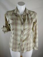 North Face Womens Size Large Long Sleeve Button Down Shirt  Plaid
