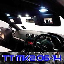 6PC Audi TT MK2 LED Interior Lights Bulbs Kit Xenon White Upgrade (2007 onwards)