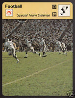 SPECIAL TEAMS DEFENSE Seattle Seahawks Football 1979 SPORTSCASTER CARD 44-24A