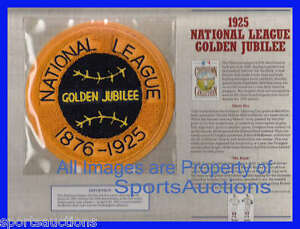 1925 NATIONAL LEAGUE GOLDEN JUBILEE 50 Yr COOPERSTOWN COLLECTION BASEBALL PATCH