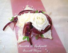 Tischdeko Tischdekoration Hochzeit Lotusblüte bordeaux