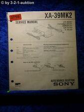 Sony Service Manual XA 39Mk2 Auto Source Selector (#3759)
