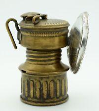 9cms MINERS LAMP GUYS DROPPER CARBIDE USA VINTAGE LANTERN BRASS BRONZE  N18