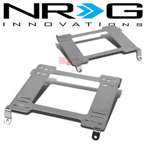 NRG DRIVER&PASSENGER SIDE TENSILE RACING SEAT BRACKET RAIL FOR 240SX S13 S14 KA