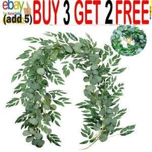 7FT Artificial Eucalyptus Garland Hanging Rattan Vine Ivy Wedding Flower jm