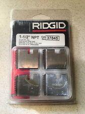 "Ridgid 37845 Pipe Threading Dies 1-1/2"" 12R Npt 11-1/2"" 11-R 111-R 00-R 0-R"
