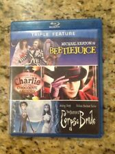 Beetlejuice/Charlie and Chocolate Factory/Tim Burtons Corpse Bride(Blu-ray,3disc