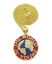 """NEW ICED OUT SOULJA BOY WORLD IS YOURS PIECE & 6MM 36"""" MIAMI CUBAN CHAIN."""