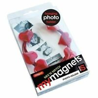 My Magnet Photo Holder Wire Magnets Set RED HEARTS NEW