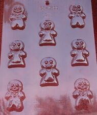GINGERBREAD PEOPLE SMALL CHOCOLATE CANDY MOLD MOLDS CHRISTMAS HOLIDAY PARTY