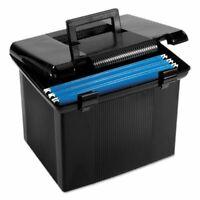 Pendaflex File Storage Box, Letter, Plastic, 11 x 14 x 11-1/8, Black (PFX41742)