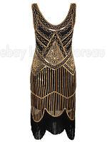 1920s Flapper Dress Headband Gatsby Vintage Style Look Sequin 20s Size 4-20