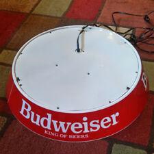 "RARE Vintage 24"" Budweiser Beer Poker / Pool Table Bar Light"