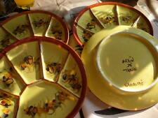 4 assiettes à fondue