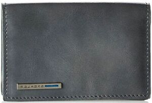 Wallet Business Card Holder Leather Man Grey PIQUADRO Wallet M