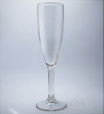 6 New Polycarbonate Plastic Champagne Flutes Glasses 185ml Quality Reusable