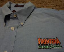 Men's FRONTERA MEX MEX GRILL Restaurant Short Sleeve Oxford Shirt Embroidered