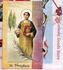 Saint St. Stephen - Biography, prayer, Feast Day, etc... Folder prayer Card