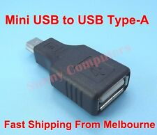 Mini USB 5-Pin Male to USB 2.0 Type-A Female OTG Adapter Connector Converter AU