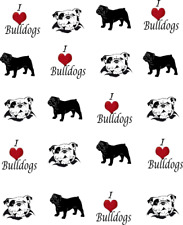 I Love (Heart) Bulldogs Waterslide Nail Decals/Nail art