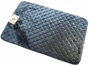 Pet Snoozy Sleeper Black Cushion Mat Dog Cat Crate Car Travel Plush Bed Non Skid