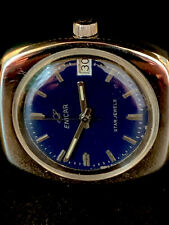 Vintage Enicar Watch - Stunning BLUE DIAL