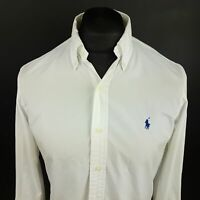 Ralph Lauren Mens OXFORD SHIRT SMALL Long Sleeve White Regular Fit