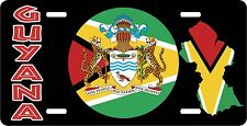 GUYANA FLAG COAT OF ARMS LICENSE PLATE NOVELTY