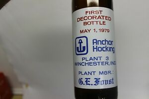 Anchor Hocking Plant 3 Commemorative Bottle, Winchester, Indiana 1979