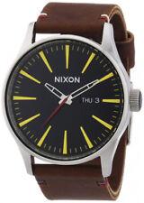 Relojes de pulsera fecha Nixon Sentry de cuero