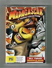 Madagascar (3-Movie Collection) Dvd 3-Disc Set Brand New & Sealed