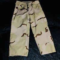 Desert Camo Gor-tex Gortex Waterproof Pants Size Large Short US GI ECWCS
