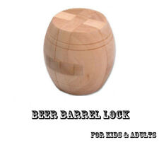 Hot 3D Wooden Puzzle Brain Teaser Cube Beer Barrel Lock Jigsaw Kid Adult Toys