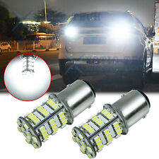 54-SMD 1157 LED Turn Signal Brake Reverse Parking Light Bulbs 6000K Xenon White