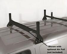 All Aluminum 2 Support Ladder Rack - Black - for 2008 & Latest Ford E-Series Van