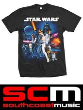 STAR WARS SPACE MONTAGE 2 STWATS06MB T SHIRT LARGE TEE OFFICAL MERCHANDISE