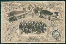 Varese Maccagno Banda Musicale Filarmonica PIEGA cartolina QK9578