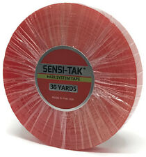 "Walker Tape Red Liner Sensi-Tak Roll 1"" x 36 yds for wigs, toupees, hairpieces"